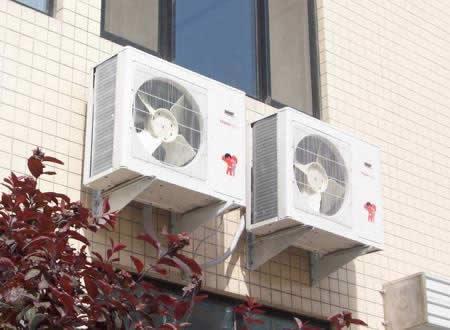 海尔室外机安装效果图--济南中央空调