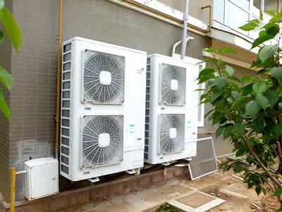 日立中央空调室外主机安装效果-济南中央空调